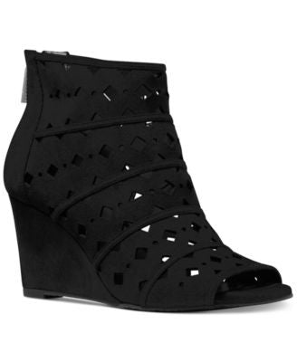 MICHAEL Michael Kors Uma Wedge Peep-Toe Booties
