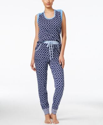 Nautica Geometric-Print Top & Pajama Pants Sleep Separates