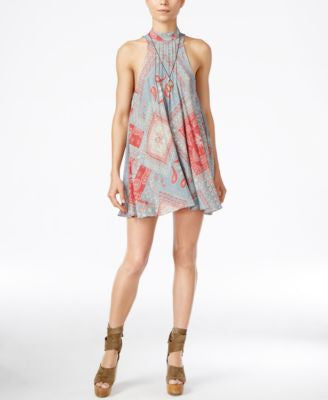 Free People Beaux Printed Mini Shift Dress