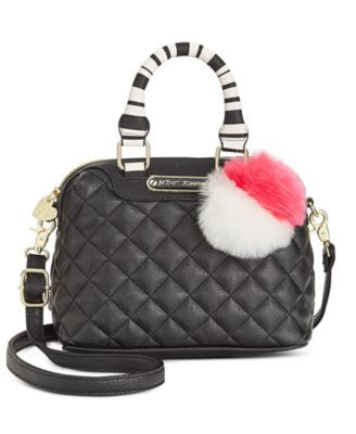 Betsey Johnson Mini Quilted Dome Crossbody