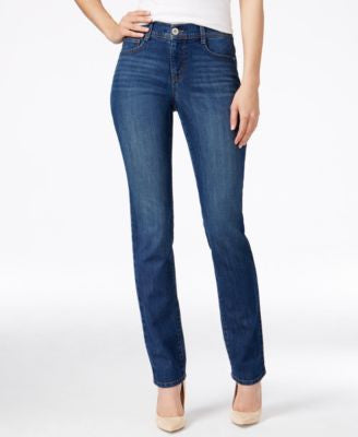 Style & Co. Tummy-Control Slim-Leg Jeans, Only at Vogily