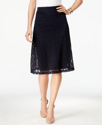 Alfani Lace A-Line Skirt, Only at Vogily