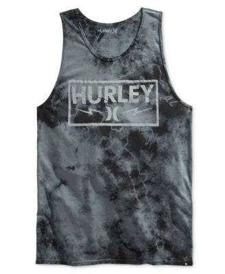 Hurley Men's Graphic-Print Tie-Dyed Tank