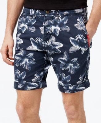 Superdry Men's International Tropical-Print Chino Shorts