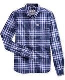 Superdry Men's Plaid Button-Down Long-Sleeve Shirt