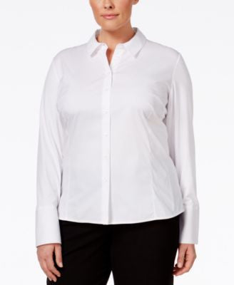 Calvin Klein Plus Size Fit Solutions Wrinkle-Resistant Shirt