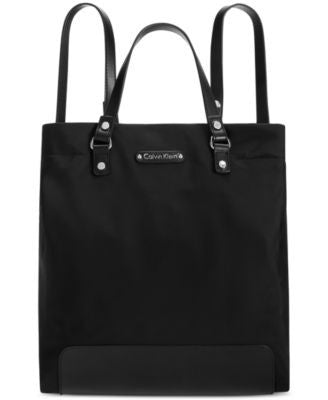 Calvin Klein Convertible Nylon Tote Backpack