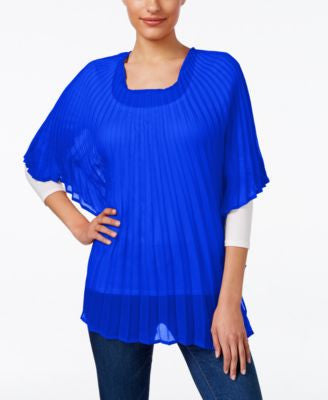Collection XIIX Solid Pleated Tunic
