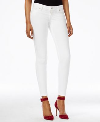 GUESS Power Low-Rise True White Wash Skinny Jeans