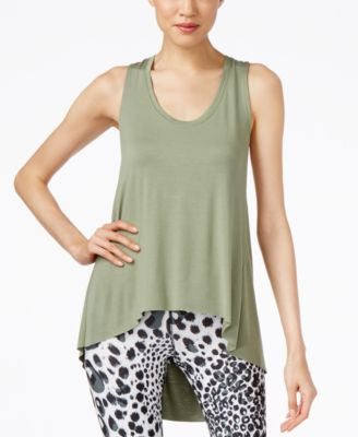 Karen Kane Life Layered-Look Draped Active Tank Top