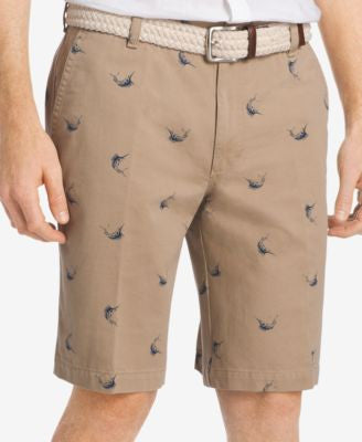 IZOD Men's Big & Tall Swordfish-Print Shorts