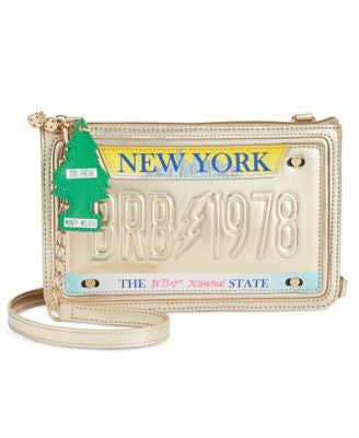 Betsey Johnson License Plate Crossbody
