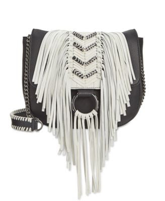 Sam Edelman Donna Fringe Saddle Flap Bag