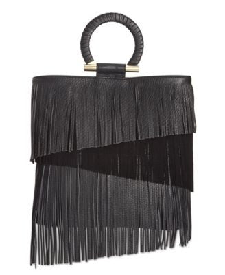 Sam Edelman Rachel Ring Handle Fringe Tote
