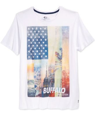 Buffalo David Bitton Men's American Flag Graphic-Print T-Shirt