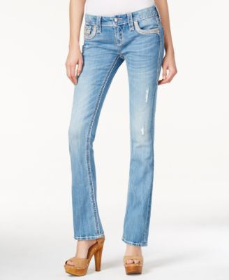 Rock Revival Dianeya Sequined Slim Bootcut Jeans