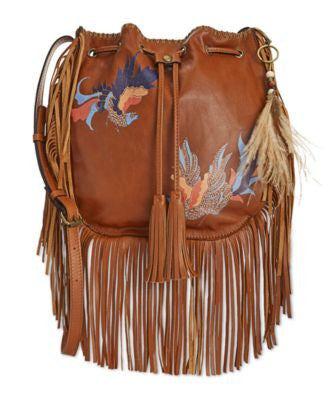 Patricia Nash Carrara Exotic Bird Bucket Bag