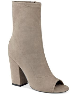 GUESS Women's Galyna Open-Toe Mid-Shaft Boots