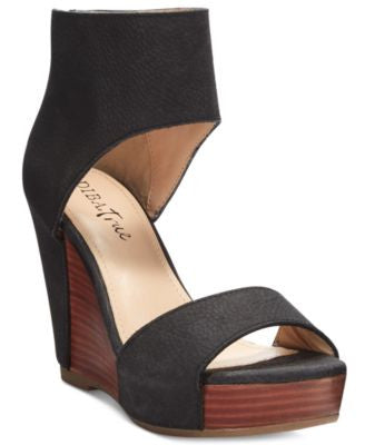 Diba True Shimmy Down Platform Wedges