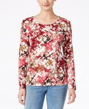 Karen Scott Printed Long-Sleeve Top, Only at Vogily