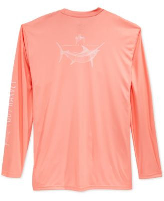 Guy Harvey Men's Performance UV Protection Graphic-Print Long-Sleeve T-Shirt