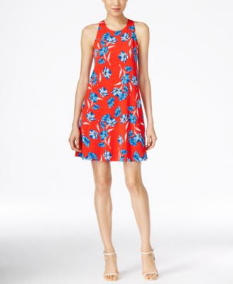 CeCe Floral-Print Shift Dress