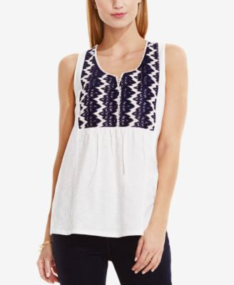 TWO by Vince Camuto Lace-Bib Top