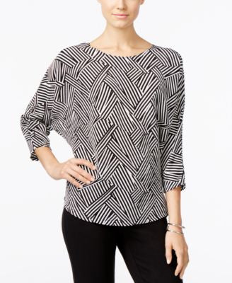 Alfani Petite Printed Dolman Top, Only at Vogily