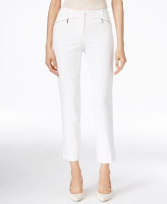 Calvin Klein Cropped Zip-Pocket Pants
