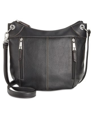 Tignanello Simple Zip Leather Convertible Crossbody