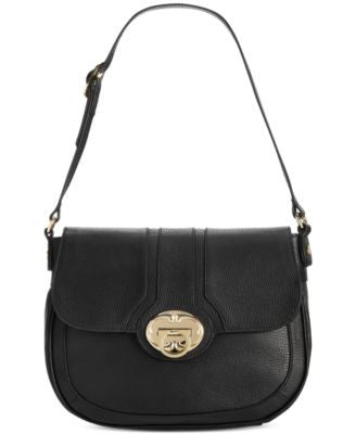Emma Fox Harrow Large Leather Saddle Bag