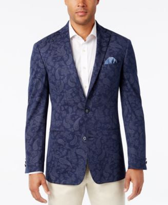 Tallia Men's Big & Tall Veracita Paisley Sport Coat
