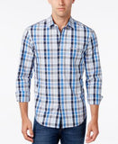 Hugo Boss Green Men's C-Bansi Plaid Long-Sleeve Shirt
