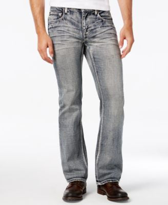 INC International Concepts Men's Indiana Bootcut Jeans, Only at Vogily