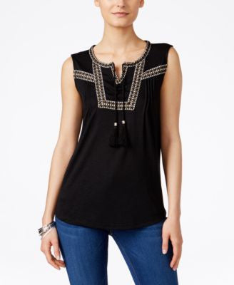 Style & Co. Sleeveless Peasant Top, Only at Vogily