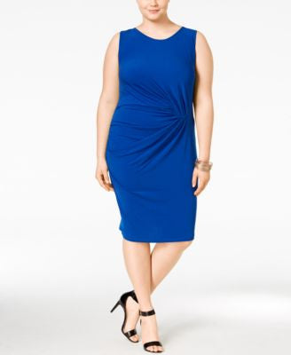 Junarose Plus Size Gathered Bodycon Dress