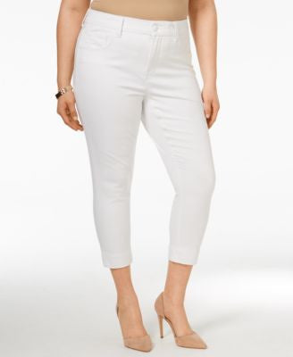 Melissa McCarthy Seven7 Trendy Plus Size Cropped Pencil Jeans