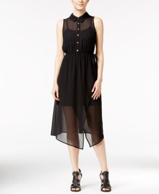 kensie Illusion Chiffon Shirtdress