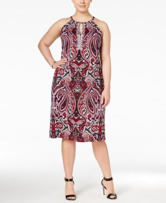 INC International Concepts Plus Size Printed Sheath Dress, Only at Vogily