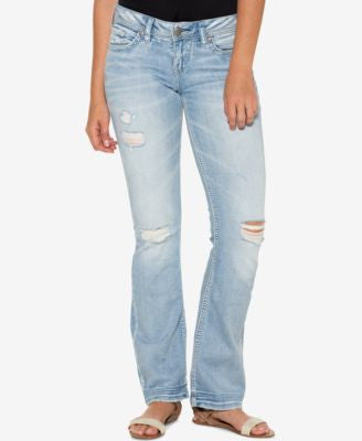 Silver Jeans Co. Aiko Ripped Indigo Wash Bootcut Jeans