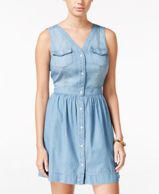 American Rag Snap-Front Chambray Dress, Only at Vogily