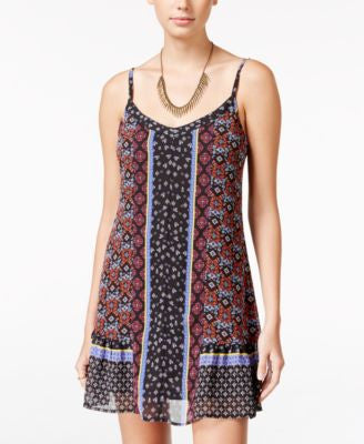 American Rag Printed Ruffle-Hem Shift Dress, Only at Vogily