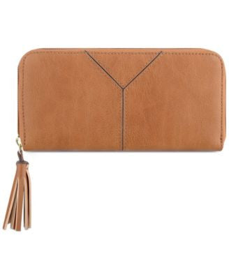 Nine West Tasseled and Tied Zip-Around Wallet