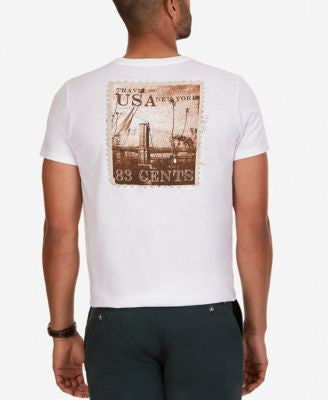Nautica Men's Big & Tall Postcard Graphic-Print T-Shirt