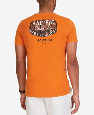 Nautica Men's Big & Tall Pacific Public House Graphic-Print T-Shirt
