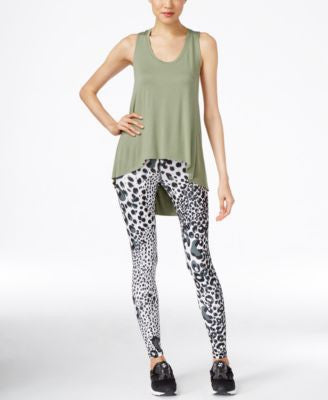 Karen Kane Life Draped Active Tank Top & Printed Leggings