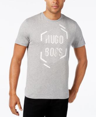 Hugo Boss Green Men's Graphic-Print Logo T-Shirt