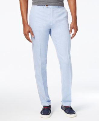 Tommy Hilfiger Men's Slim-Fit Steven Linen Pants