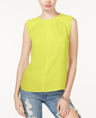 GUESS Cadee Sleeveless Basketweave Blouse