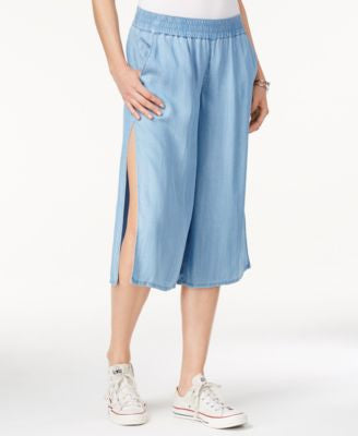 GUESS Savannah Pull-On Split-Leg Culottes